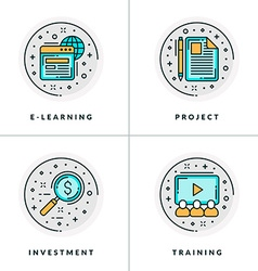 E-learning project investment training a set of vector