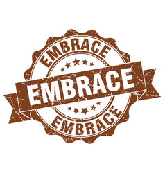 Embrace stamp sign seal vector