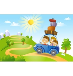 Family summer adventure vector image vector image