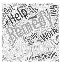 Fighting baldness with home remedies word cloud vector