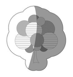 Figure stamp tree art icon vector