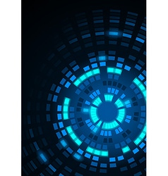 Glowing blue segmented circles vector