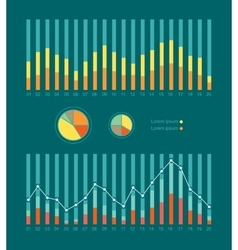 Graphs and Charts Show Weather Changing vector image vector image