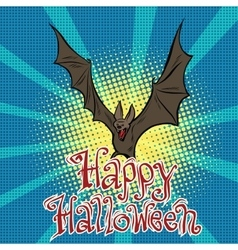 Happy halloween bat vampire vector