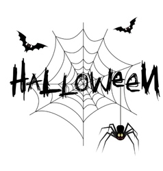 Happy halloween poster banner vector