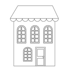 isolated big house vector image