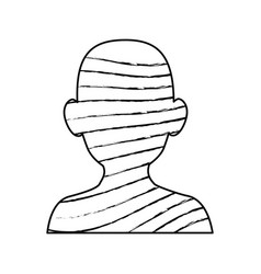 Male head silhouette vector