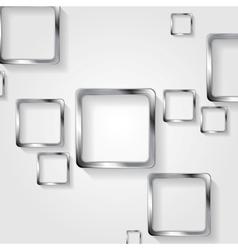 Metallic squares on white background vector