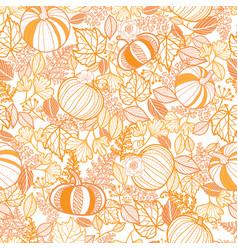 Orange ornate pumpkins seamless repeat vector