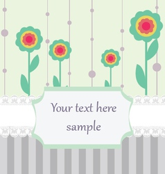 Pastel colored card vector