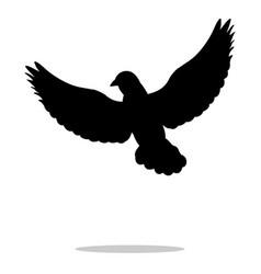 Pigeon bird black silhouette anima vector