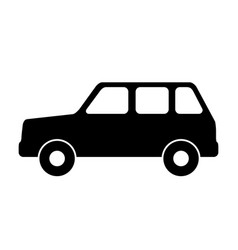 silhouette of a car vector image