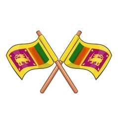 Sri lanka flag icon cartoon style vector