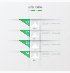 timeline design template green gradient color vector image