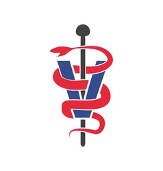Veterinary symbol design template vector