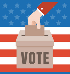 Vote with american flag vector