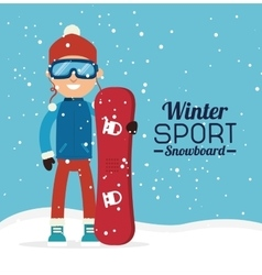 Winter sport and fashion wear vector image