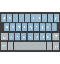Modern keyboard of smartphone vector
