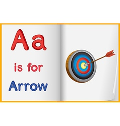 A picture of an arrow in a book vector image