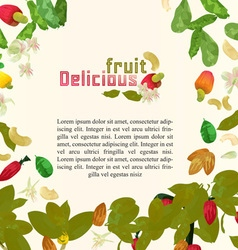 Fruits poster vector