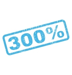 300 percent rubber stamp vector