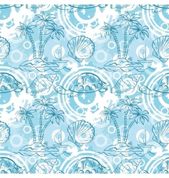 Seamless exotic ocean pattern vector