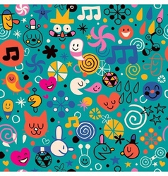 Fun cartoon pattern 4 vector