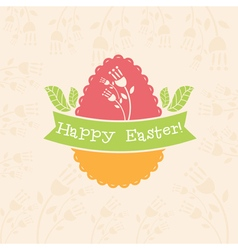 Concept easter card with egg and bunny vector