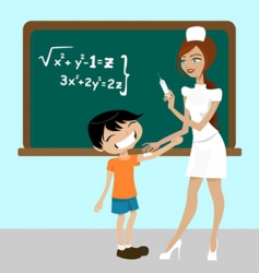 student and nurse vector image