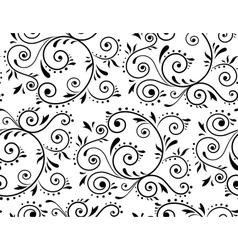 Abstract floral ornament vector