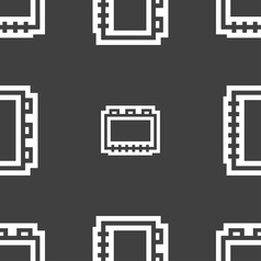 Book icon sign seamless pattern on a gray vector
