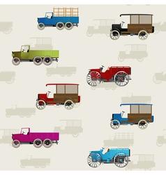 vintage cars vector image