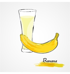 Banana juice vector