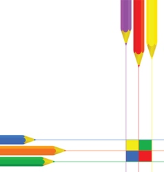 Pencil set color vector
