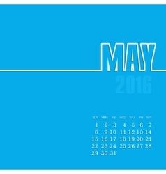May 2016 year calendar vector