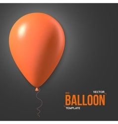 Photorealistic air balloons happy birthday vector