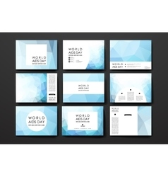 Set of brochure poster design templates in World vector image