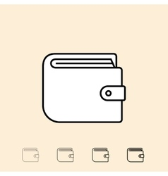 icon of wallet vector image
