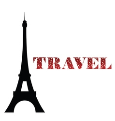 Eiffel tower travel vector