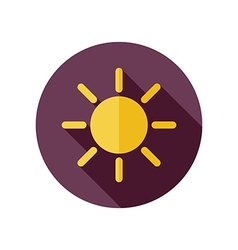 Sun flat icon meteorology weather vector