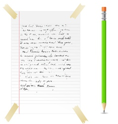 abstract note and pen vector image