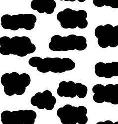 Pattern sky cloud black vector