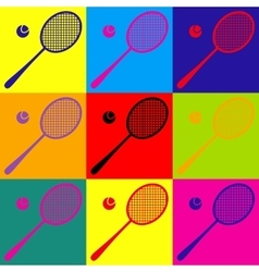 Tennis racquet icon vector
