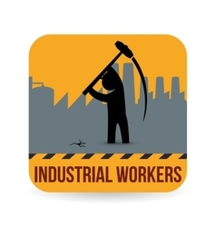 Worker design industrial icon white background vector