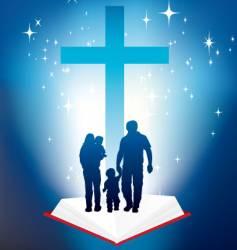 bible light book family vector image