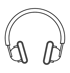 Line headphones icon vector