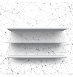 Realistic shelf shelf on wall vector