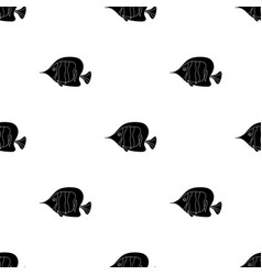 Angel fish icon in black style isolated on white vector