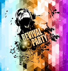 Attractive club disco flyer background vector