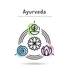 Ayurveda set icon vector